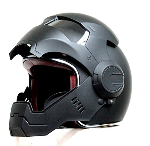 Masei 610 Matt Open Face Motorcycle Helmet (Black, Large)