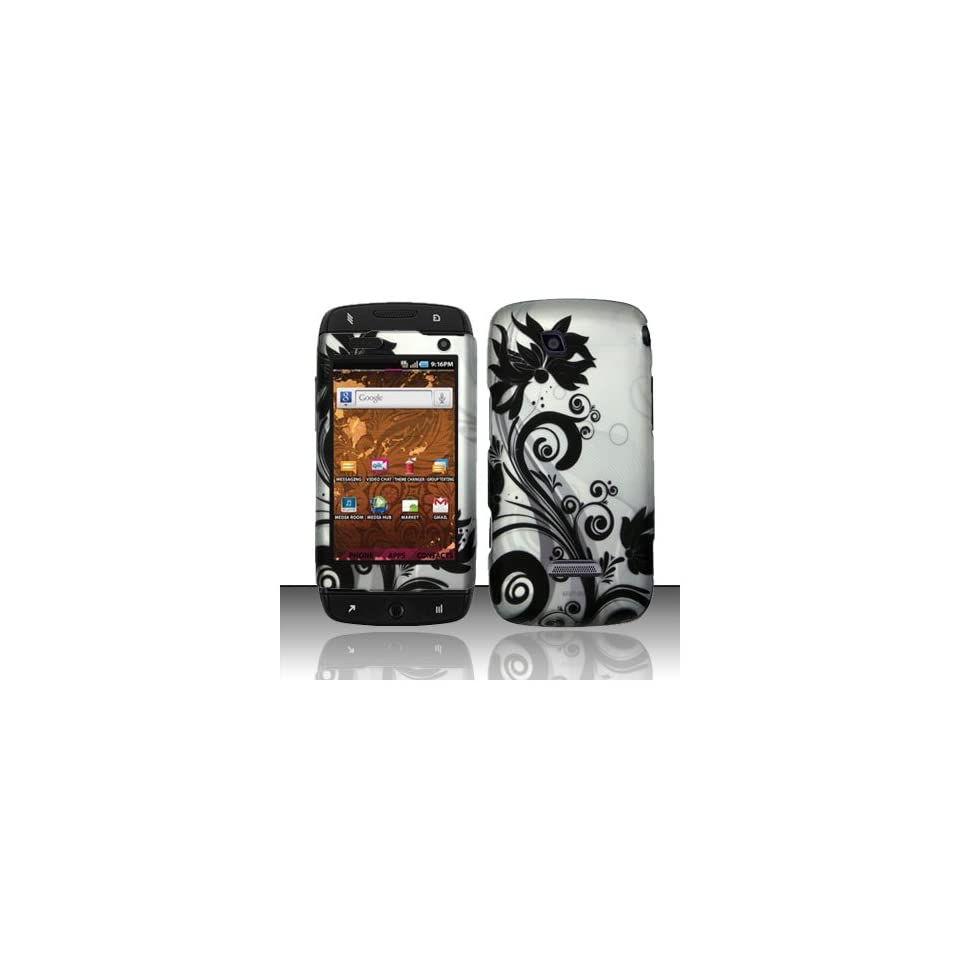 Black Swirl Hard Cover Case for Samsung T Mobile Sidekick 4G SGH T839 Cell Phones & Accessories