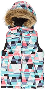 Roxy Like A Feather Veste Mul Tepanec Geo FR : 14 ans (Taille Fabricant : T14)
