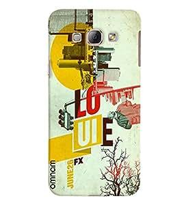 Omnam Louie Movie Scene Printed Designer Back Cover Case For Samsung Galaxy A8