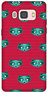 The Racoon Grip printed designer hard back mobile phone case cover for Samsung Galaxy J5 (2016). (Blue Racoo)