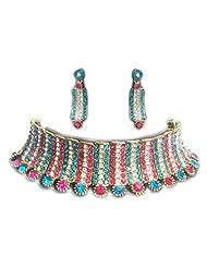 Zaveri Pearls Choker Necklace Set ZPFK145 For Women