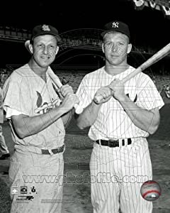 Stan Musial & Mickey Mantle 1960 All Star Game Photo 8x10