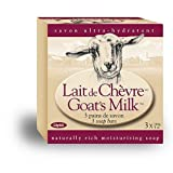 Canus Goat's Milk Bar Soap, 3-Count Boxes (Pack of 4) ~ Canus Goat's Milk