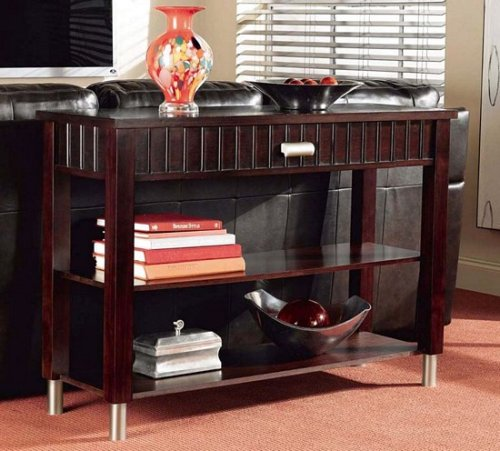 "Cheap Contemporary Sloane ""Merlot"" Occasional Console Sofa Table (453-227)"