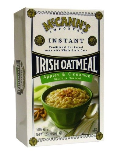 McCANN'S Instant Irish Oatmeal, Apple & Cinnamon, 12.3-Ounce Boxes (Pack of 6)