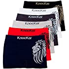Mens 6pk Seamless Athletic Spandex Compression Sports Workout Boxer Brief Underwear Shorts