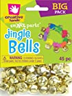Fibre Craft - Creative Hands 35752 61E 45-Piece Value Pack Jingle Bells Decorative Supplies