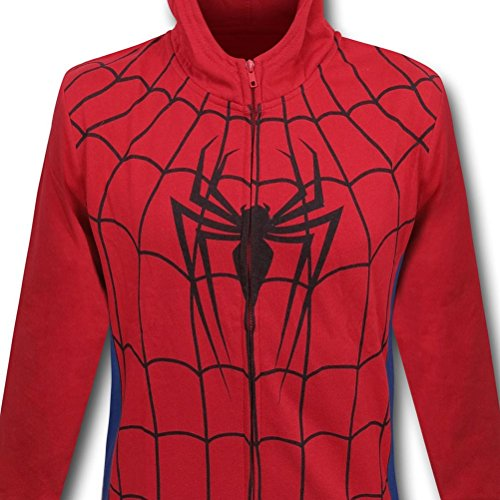 Spiderman Symbol Costume Kids Zipper Hoodie with Mask- Youth XLarge (14-16)