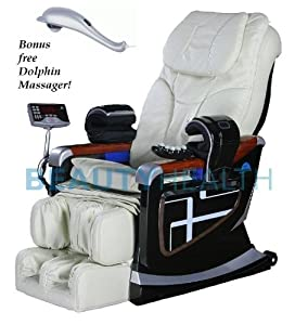 Forever Rest Premium Massage Chair *body scan*BUILT IN HEAT(TOP OF THE LINE) 10yr. Warranty (Creme Ivory)