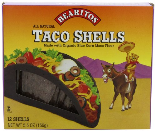 Bearitos Blue Corn Taco Shells, 12 Count (Pack of 12) (Organic Blue Corn Flour compare prices)