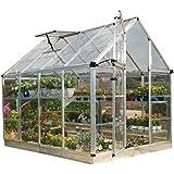 Palram Snap & Grow 6' Series Hobby Greenhouse - 6 x 8 x 7 Silver