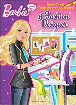 I Can Be A Fashion Designer Barbie Doodle Book Mary Man Kong Jiyoung An 9780375872594