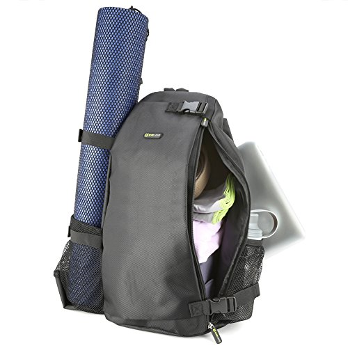 Evecase Yoga New nunui manao Crossbody maa Bag BackPack Fits Most Large Yoga moena No ka mea, hale haʻuki, Hot Yoga, aku la o Pilato, Hoʻoikaika kino, New, Beach, hele, Hiking a More - ʻeleʻele