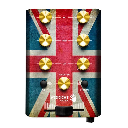 Pokketmixer Portable Mini-Dj-Mixer, Mix Your Music Spontaneously, Live, Anywhere And At Anytime You Want, Union Jack