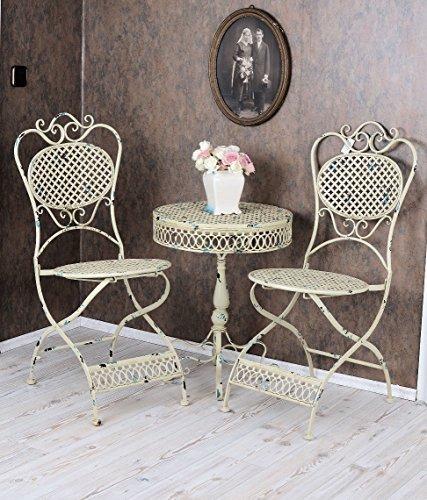 Vintage gartenm bel schmiedeeisen set 1 tisch 2 st hle antik stil jetzt kaufen - Gartenmobel schmiedeeisen gebraucht ...