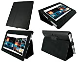 rooCASE Ultra Slim (Black) Leather Case Cover Cover with Stand for Sony S1 Android Tablet Wi-Fi