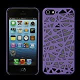 Bird's Nest Design Interwove Line Hollow Hard Protector Case for iPhone 5 (purple)