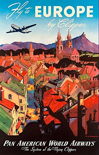 pan-am-europe-wonderful-a4-glossy-art-print-taken-from-a-rare-vintage-travel-poster