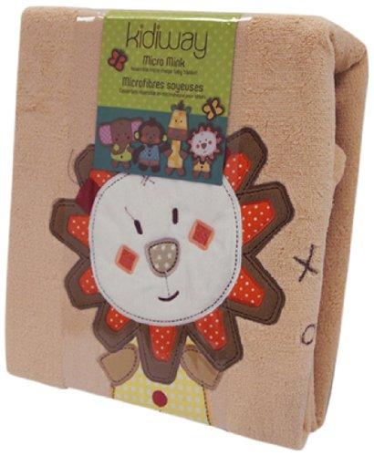Kidiway Micro Mink Blanket, Beige Lion - 1