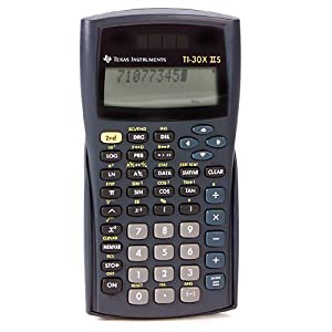 Texas Instruments TI-30X IIS 2-Line Scientific Calculator, Black w/Blue Accents