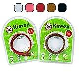 SadoSports Kinven Mosquito Bug Repellent Bracelet Bands - DEET Free - Stylish Braiding, 2 packs (4 bracelets), (Color: Red, Brown)