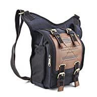 Mens Boys Vintage Canvas Shoulder Mil…