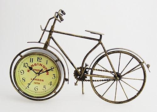 JustNile Antique-Style Table/Desk Clock - Two Wheel Bike Kinstington Station (Cast Iron Bike compare prices)