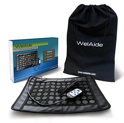 WelAide 100020 Far Infrared Heated Pad, Black, Small
