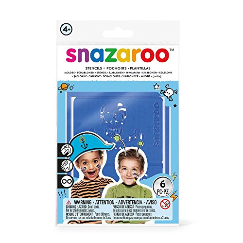 Snazaroo Face Paint Stencils - Boys Adventure, Set of 6 - 1