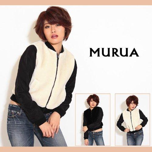 【MURUA(ムルーア)】ファーBODYスタジャン1(S)サイズアイボリー(03)
