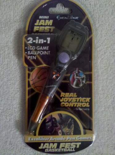 Excalibur Mini Jam Fest Basketball 2-in-1 LCD Game and Ballpoint Pen - 1