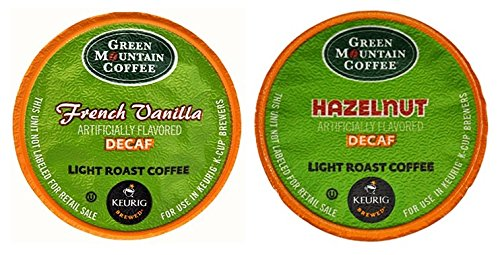 Green Mountain French Vanilla Decaf & Hazelnut Decaf Flavored Variety Pack 48 K-Cups For Keurig Brewers front-507225