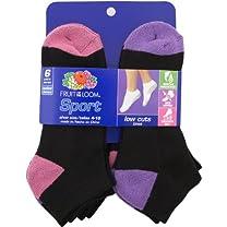 Fruit of the Loom Women's 6 Pair Pack Sport Low Cut Sock