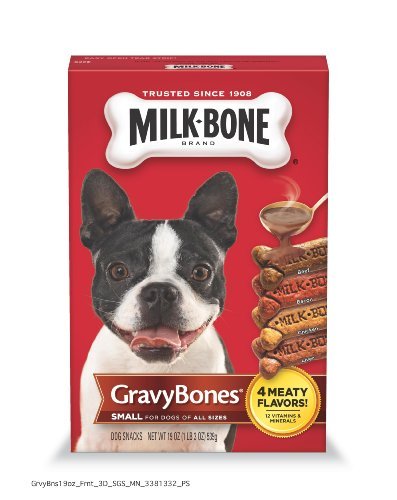 Milk Bone Gravy Bones Biscuits for Small and Medium Size Dogs, 19-Ounce (Pack of 6)