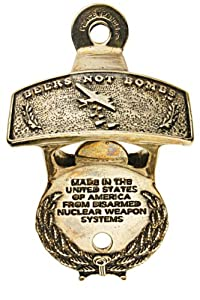 Beers Not Bombs Wall Mounted Bottle Opener