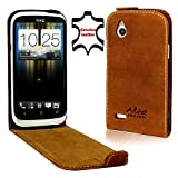 Perfect Case Stil Better Flip Case Genuine Leather for HTC Desire X Brown