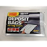 "MMF Industries. No. 236201206 White. Temper-Evident Disposable Plastic Deposit Bags (9""x12"") Pack of 50."