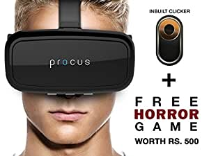Procus ONE Virtual Reality Headset - 42MM Lenses- Fully Adjustable VR Glasses ,Black