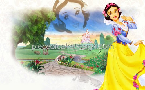 1/4 Sheet ~ Disney Princess Snow White Outdoors Birthday ~ Edible Image Cake/Cupcake Topper!!!