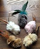 Rabbit Fur & Feathers Handmade Cat Toys