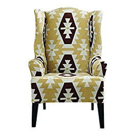 Sure Fit Stretch Kilim - Wing Chair Slipcover  - Chocolate (SF45199)