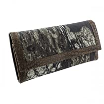 Licensed Mossy Oak Camouflage Camo Women Trifold Wallet Coffee Trim