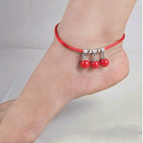Tibetan Silver Sterling Silver Bangle Anklet Chain Bracelet Jewellery Quality Style NO.3005