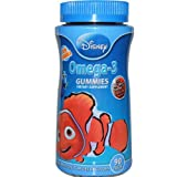 Disney, Finding Nemo, Omega-3 Gummies, 90 Pieces (Pack of 2)