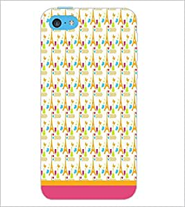 PrintDhaba Tower Pattern D-1806 Back Case Cover for APPLE IPHONE 5C (Multi-Coloured)