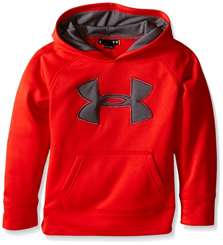 Under Armour Little Boys' Big Logo Hoodie, Risk Red, 5