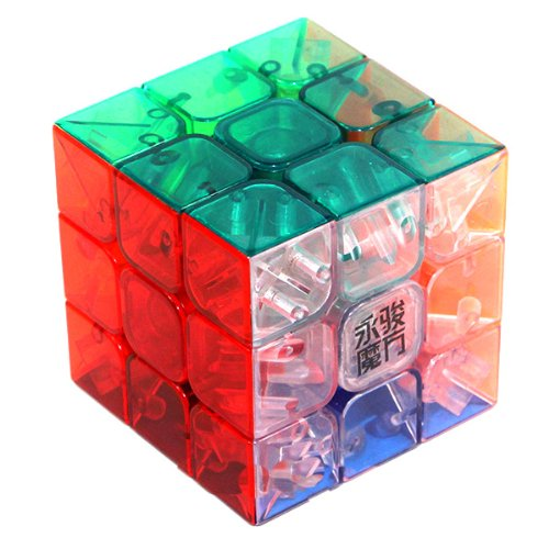 3x3x3 YJ Yulong Transparent Color Stickerless Cube puzzle Moyu 3×3