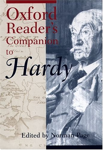 Oxford Reader's Companion to Hardy: Norman Page: 9780198600749: Amazon.com: Books