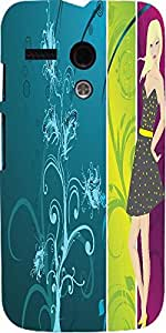 Snoogg Abstract Illustration Designer Protective Back Case Cover For Motorola...